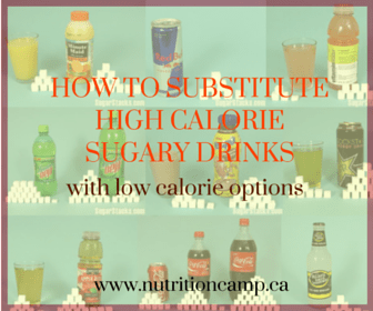 How to substitute high calorie sugary drinks with low calorie options especially during those summer months!