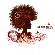 afro diva salon logo & wordmark