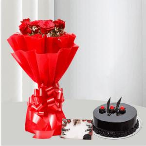 Red Roses and Chocolate Cake to Saudi Arabia