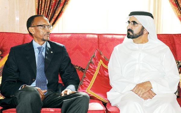 محمد بن راشد يبحث التعاون الاقتصادي مع رئيس رواندا