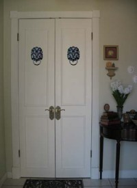 Trompe Loeil Stencils Let You Add Character to Any Door