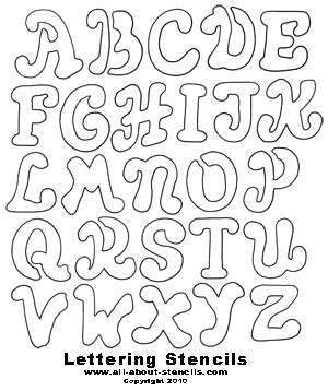 Free Printable Letter Stencils Great for School Projects