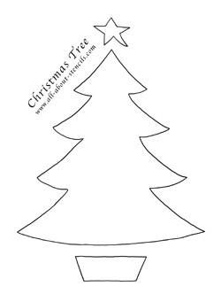 Free Christmas Tree Stencils and Plenty of Christmas Crafts
