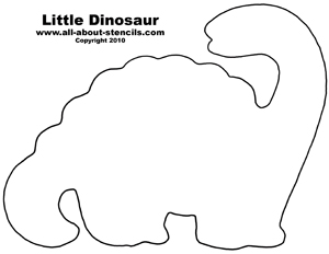 Free Dinosaur Stencil Designs for Nursery Decorations and