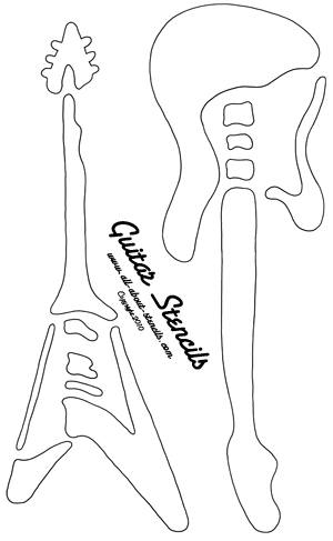 Find a Free Guitar Stencil and Ideas for Decorating with It!