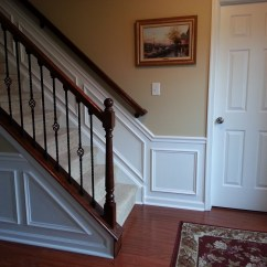 Picture Frame Moulding Below Chair Rail Places To Rent Tables And Chairs Hall Stairway Trim Work Low Maintenance Shadow Boxes All 1