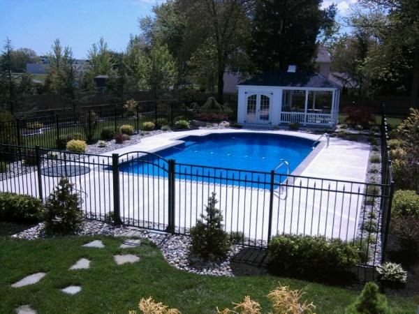 refreshing swimming pool landscape