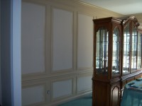 Dining Room Design Accents: Wallpaper within Shadow Boxes ...