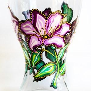 Vaza cu Crini Violet