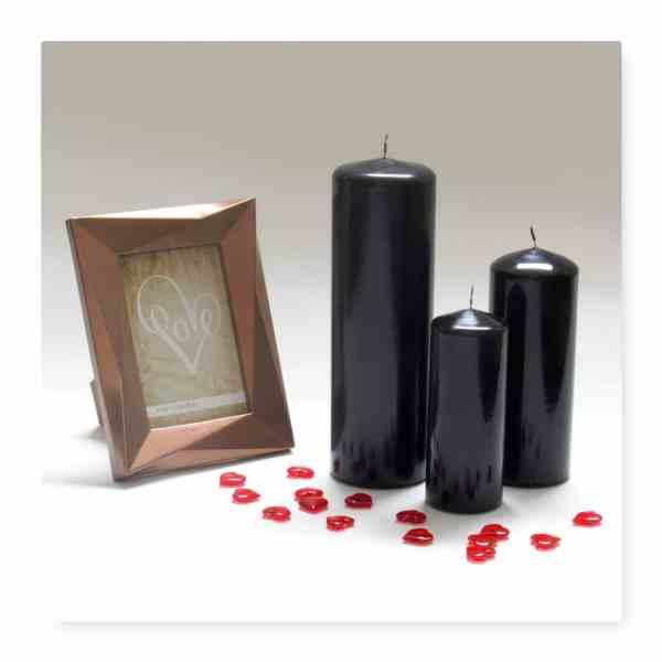 Black Pillar Candles Wholesale