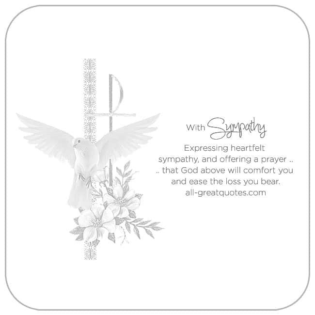 Expressing Heartfelt Sympathy An Offering A Prayer.