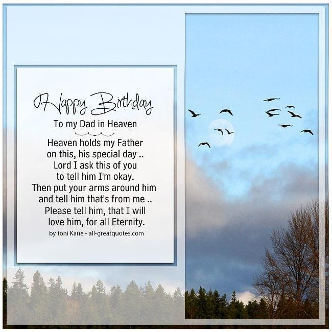 Greetings Heaven Father Birthday