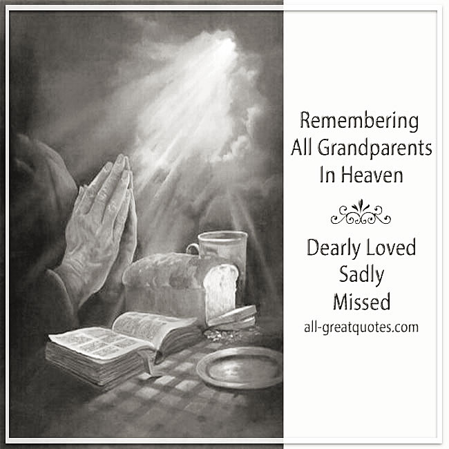 Remembering All Grandparents In Heaven Cards