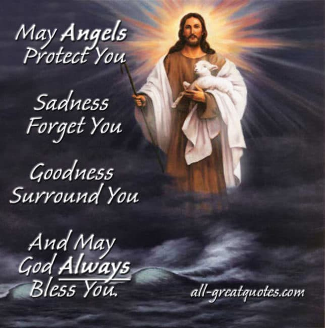 May Angels Protect You Sadness Forget – In Loving Memory Cards