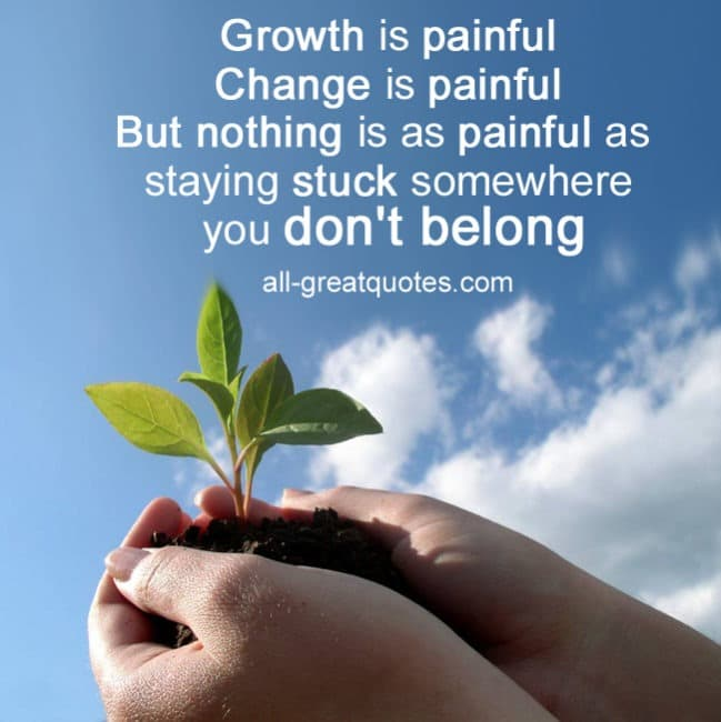 Growth Is Painful Change Is Painful Facebook Greeting Cards