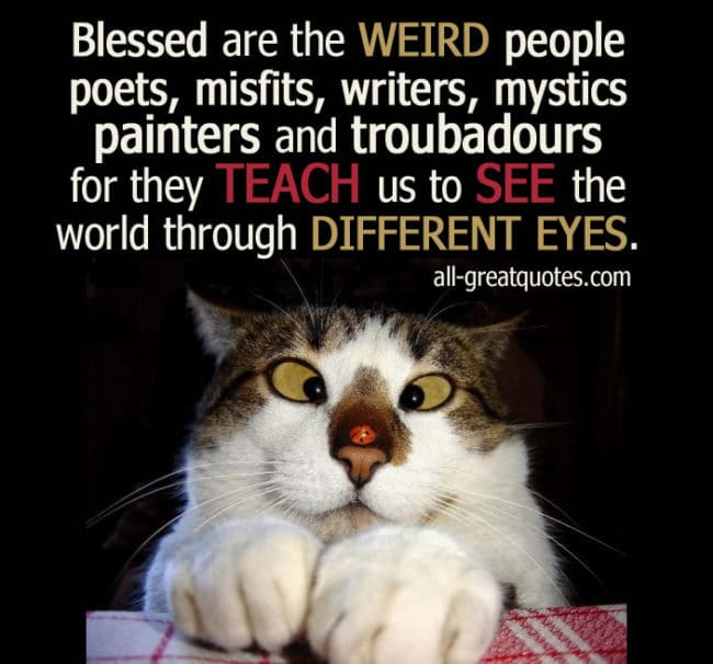 Blessed Are The WEIRD People Poets Misfits Pic Quotes