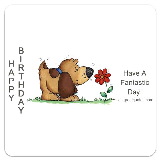 Happy Birthday Very Cute Free Birthday Cards To Share
