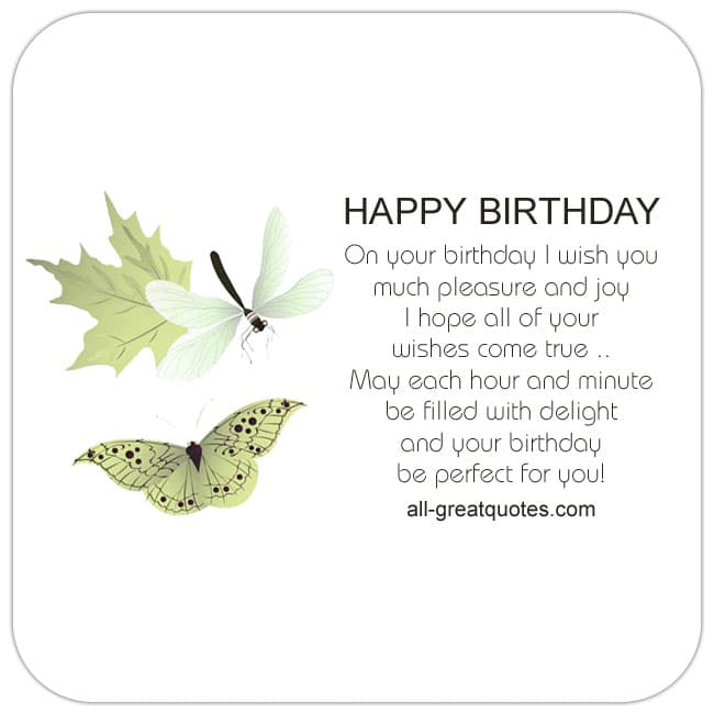 On Your Birthday I Wish You Much Pleasure And Joy Free Cards
