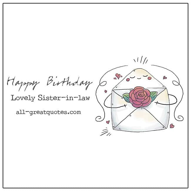 Happy Birthday Lovely Sister-in-law Birthday Cards