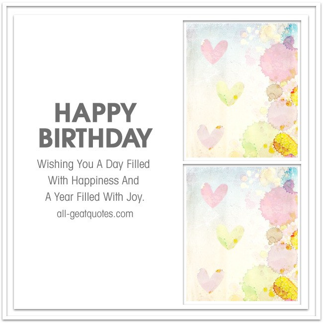 Happy Birthday Wishing You A Day Filled With Happiness