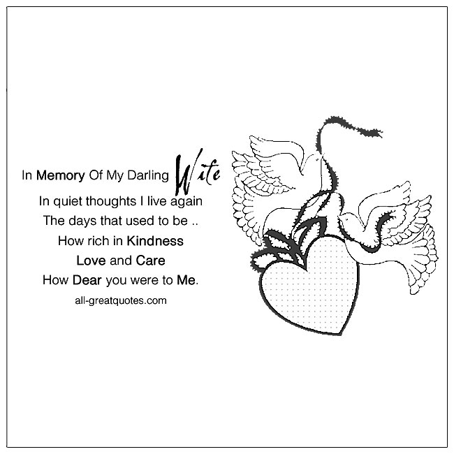 Loss Of Wife Death Poem