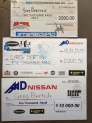 Winners Cheques