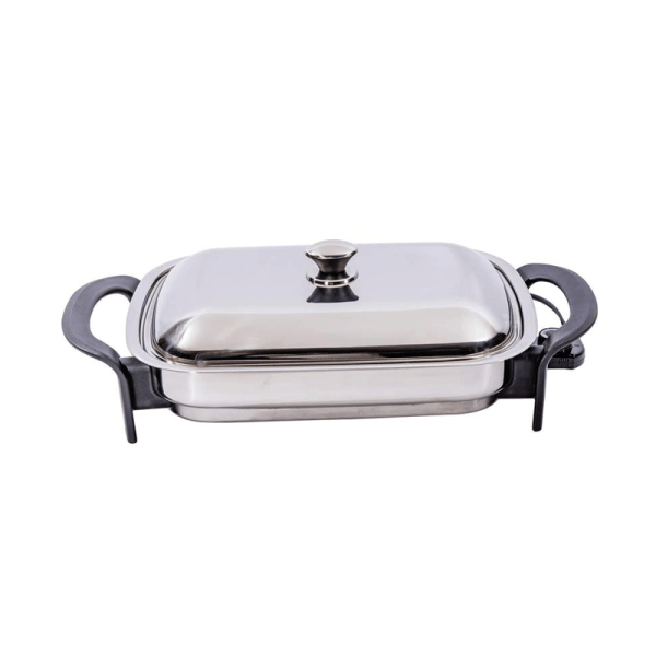 Precise Heat Large Electric Skillet 16in Adjustable Temp