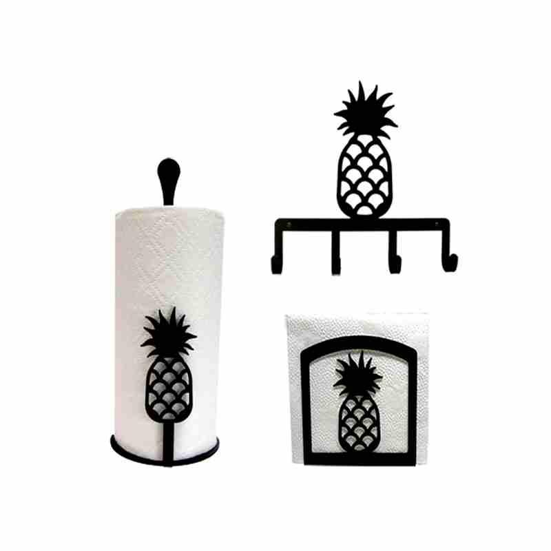 Pineapple Kitchen Decor Set Lovely Paper Towel Holder Counter Tops
