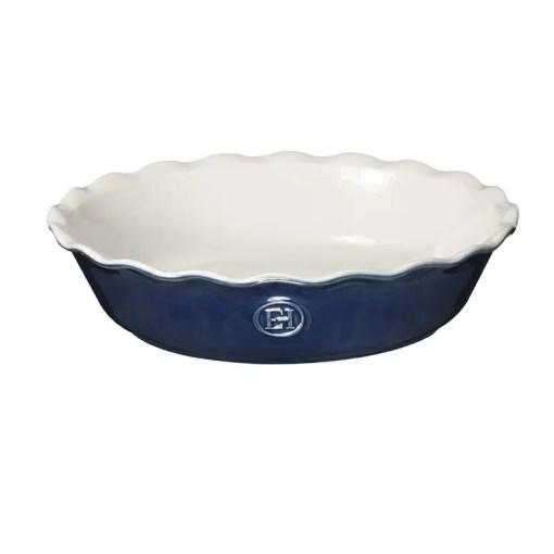 blue pie dish