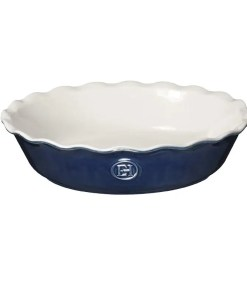 blue pie dish
