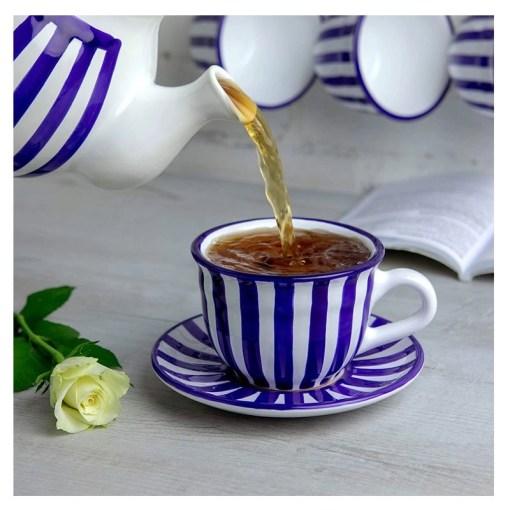 Blue Stripe 12oz Coffee Tea Cup
