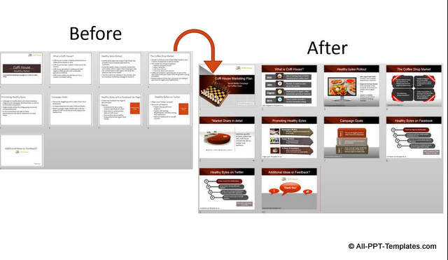 PowerPoint Marketing Presentation Design Makeover Example