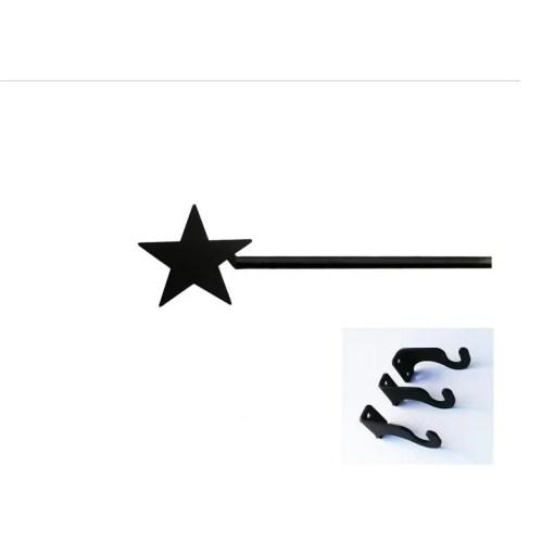 star long curtain rod