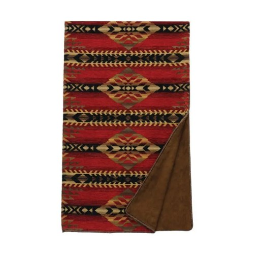gallop red throw blanket