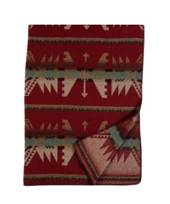 Yellowstone Red Throw Blanket