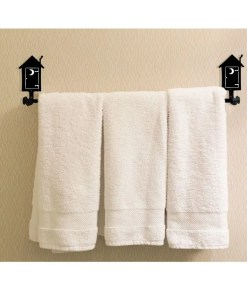 outhouse bath towel rack