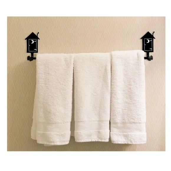outhouse bath towel rack