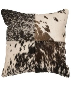Speckled Hair on Hide Pillow