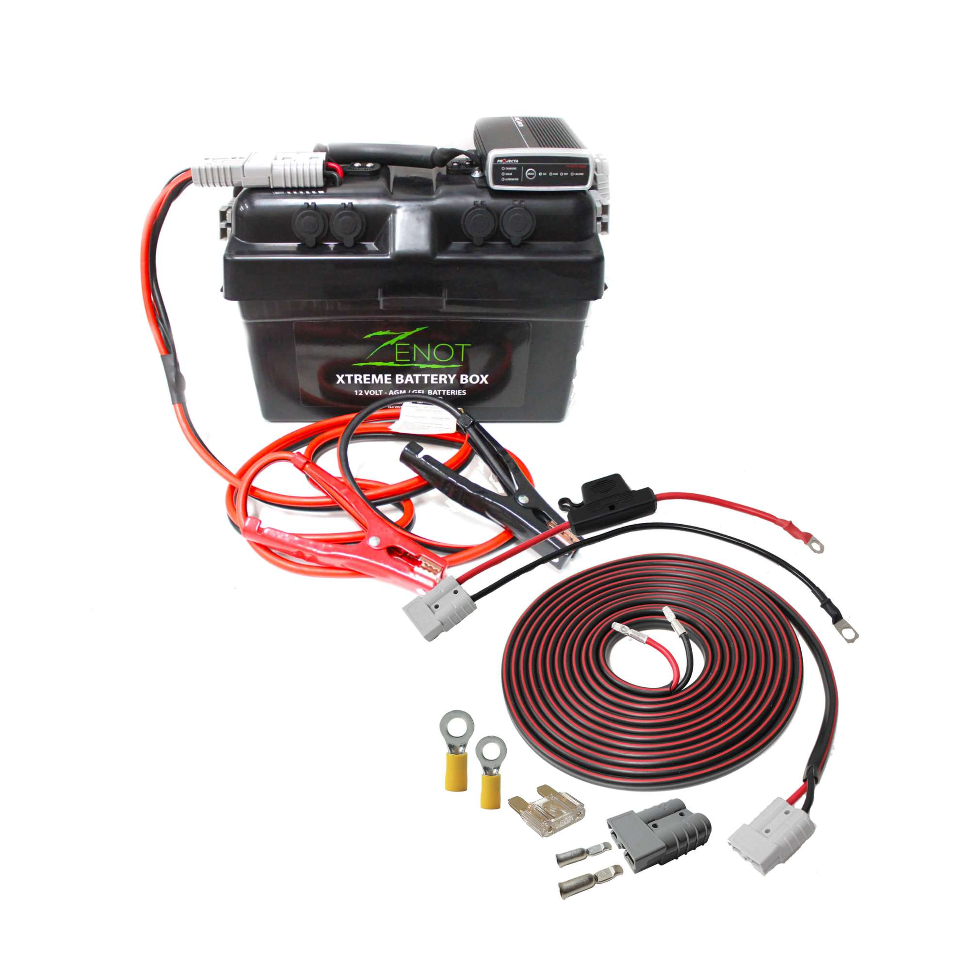 hight resolution of quality built zenot extreme battery box with dc dc charger jump starter wiring kit all 12 volt