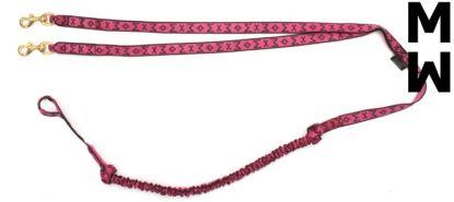Ligne de traction Manmat Longue 2 chiens rose
