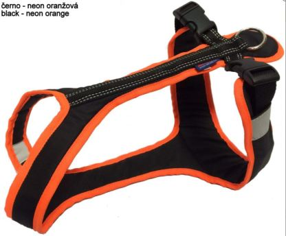 Harnais Zero DC Short noir/orange fluo