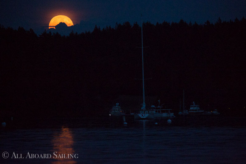 Sunset Moonrise Sail with Biggs Orcas T124A's, T124C, and
