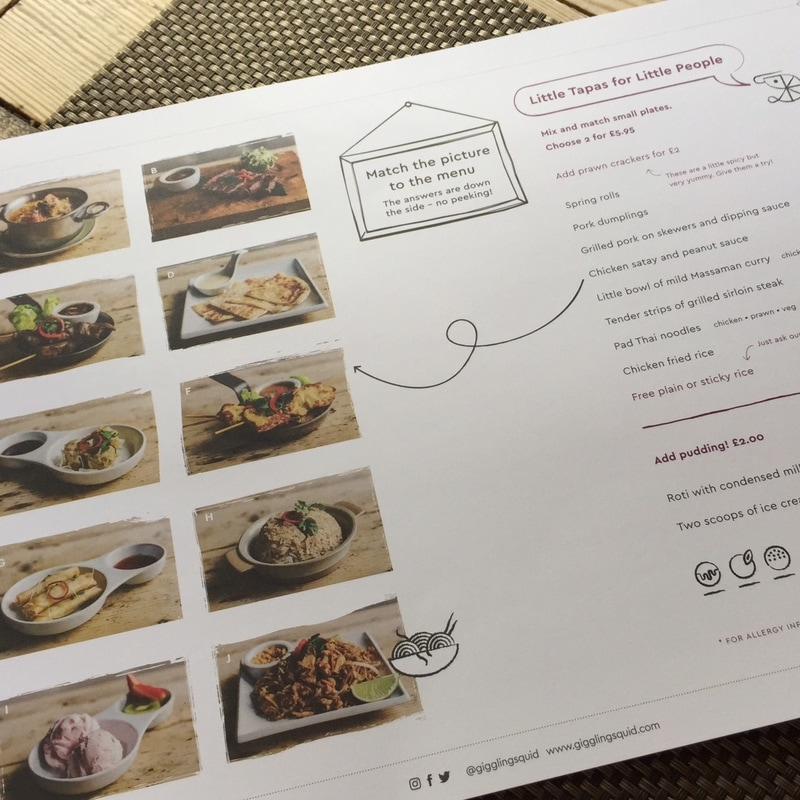 Giggling Squid Thai Reigate Kids Menu Review  All about