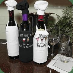 Kitchen Serving Cart Moen Brantford Faucet Wine Bottle Apron & Chef Hat Set