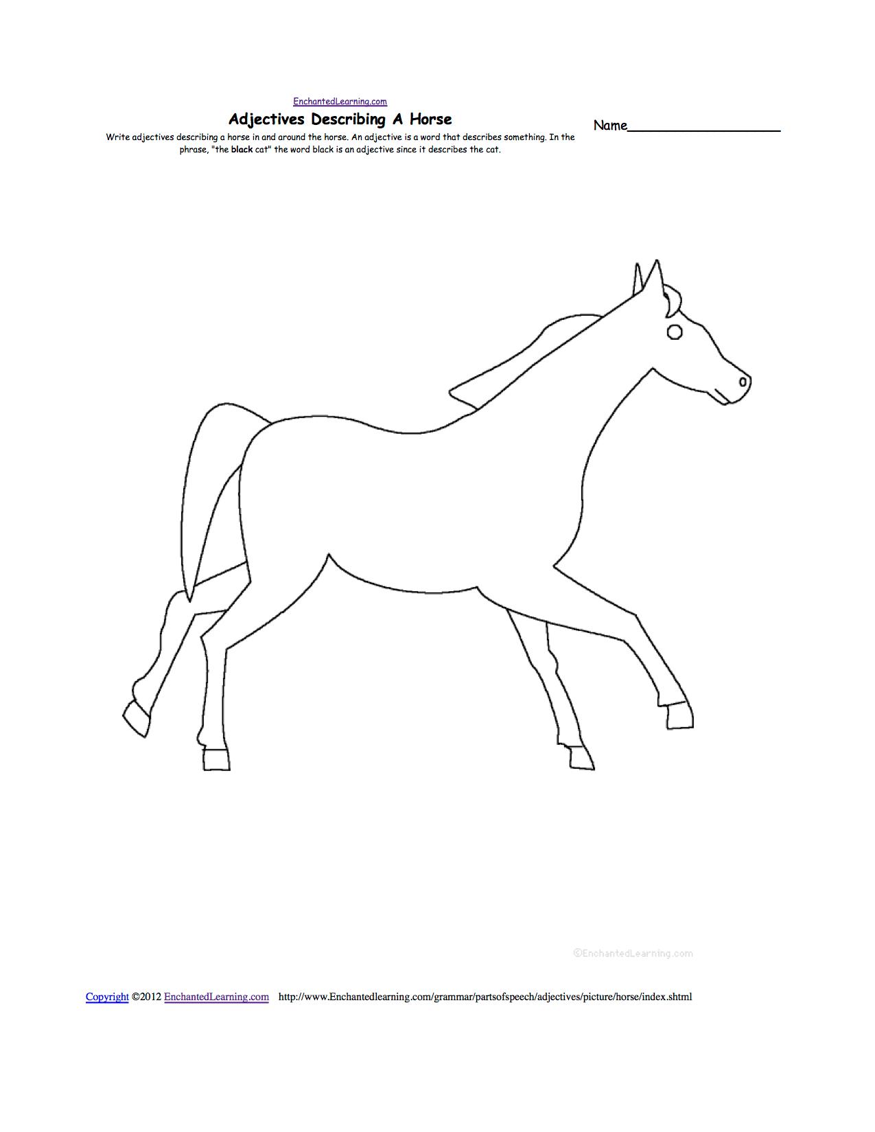 Horses At Enchantedlearning