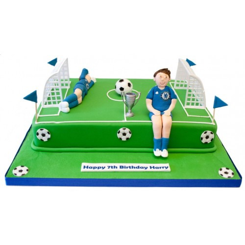 Football Pitch Birthday Cake 3