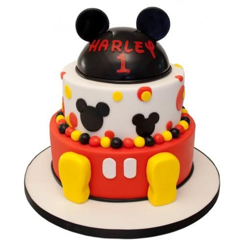 Mickey Mouse 3 Tier Birthday Cake