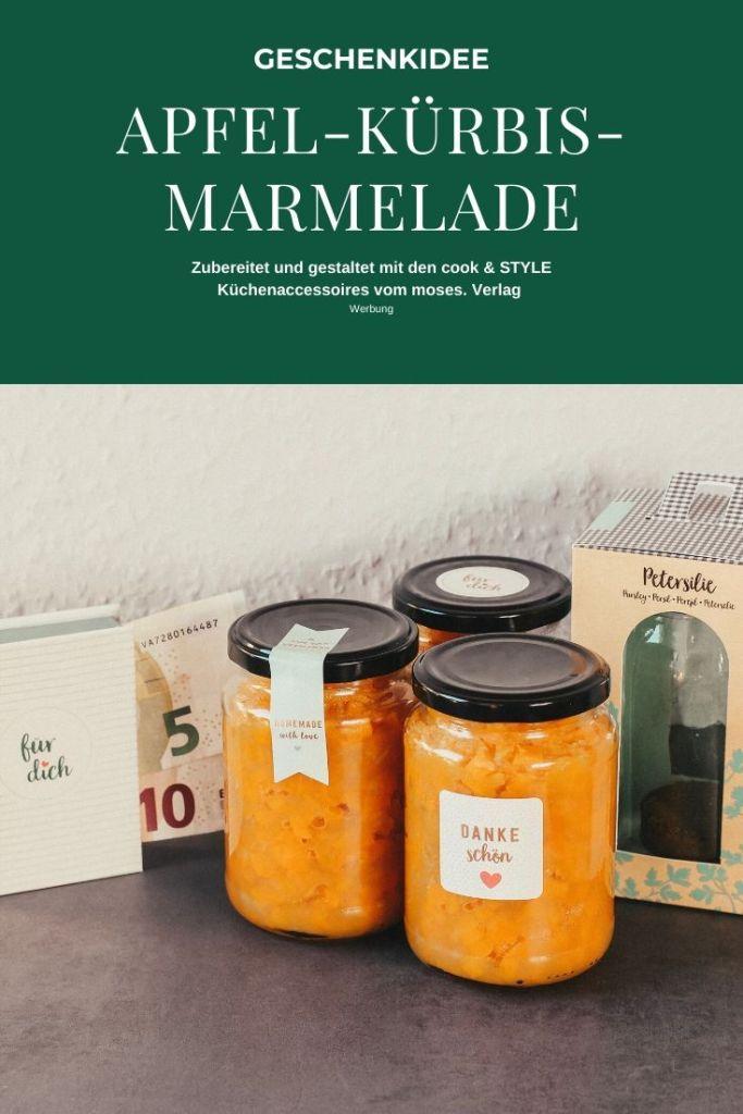Geschenkidee Apfel-Kürbis-Marmelade cook & STYLE moses. Verlag Pin1