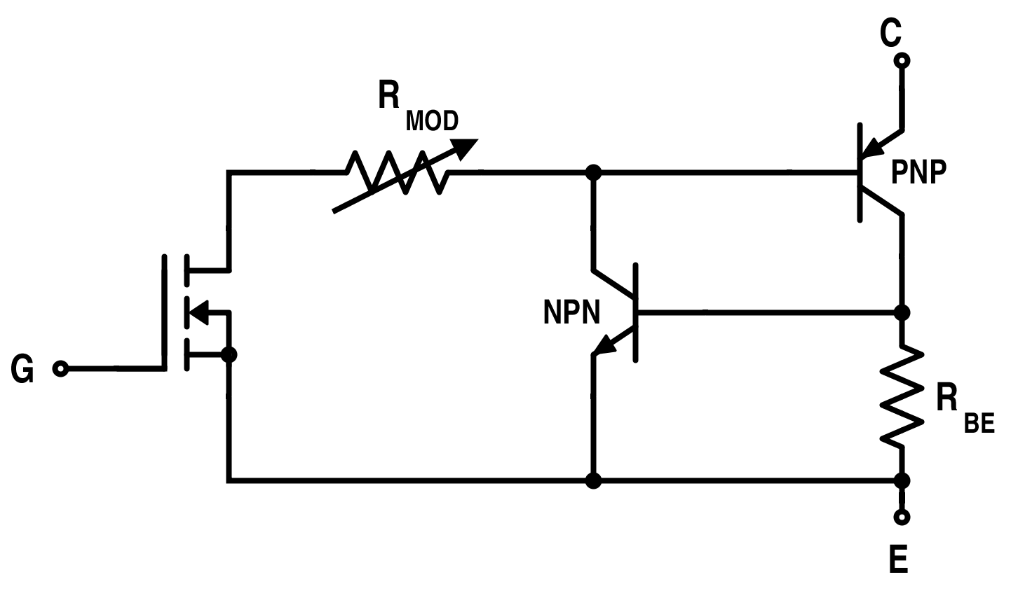 hight resolution of equivalent circuit for igbt