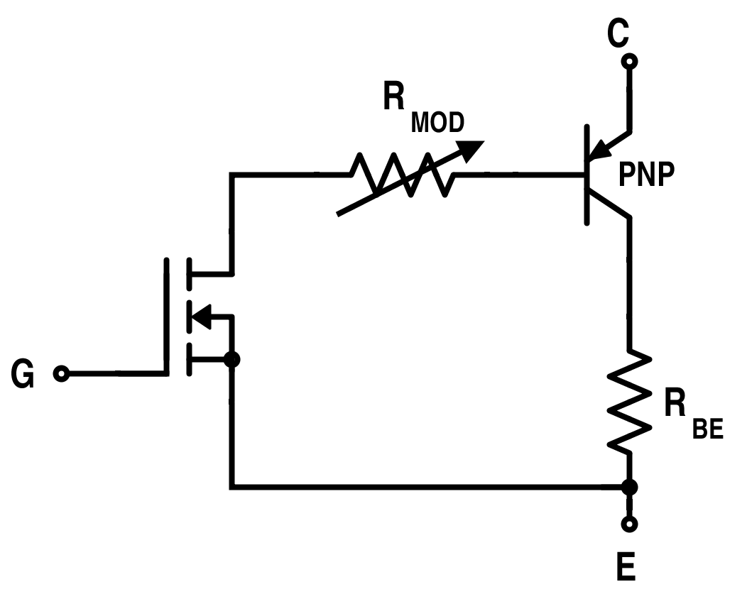 hight resolution of simplified equivalent circuit for igbt